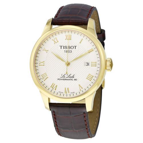 Tissot Le Locle Powermatic 80 Automatic Champagne Dial Mens Watch T0064073626300