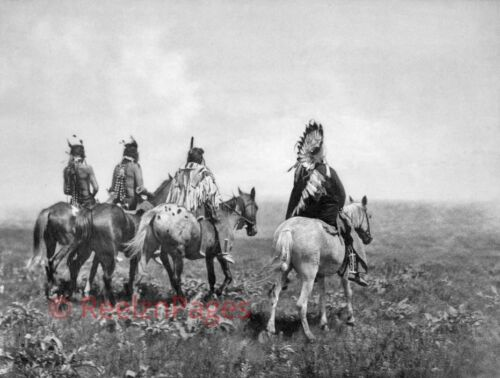 New Art Print 1905 Edward Curtis Photo The Chief And His Staff Apsaroke 11X17