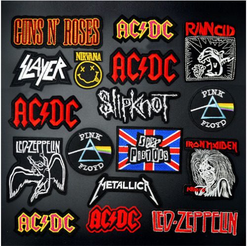 TOPPA PATCH ROCK BAND ACDC PINK FLOYD NIRVANA IRON MAIDEN TERMOADESIVA RICAMATA