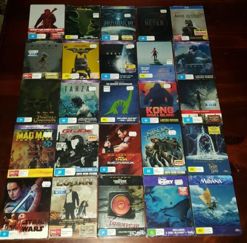 *New & Sealed* Australian Blu Ray Steelbook Collection Limited Edition Region B