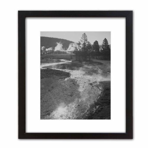 Official Historic Photo ANSEL ADAMS: CENTRAL GEYSER BASIN Yellowstone Nat. Park