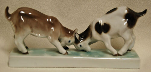 Antique ENS Volkstedt Porcelain Germany Mountain Goat Figurine