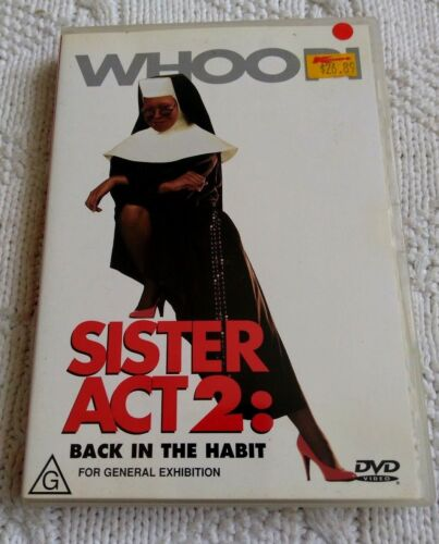 Sister Act 2 - Back In The Habit (DVD) R-4, LIKE NEW, FREE POST IN ASUTRALIA