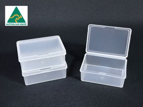 110 x Clear Plastic MINI Storage Containers lid Boxes Small Food Grade NEW BULK