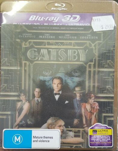 *New & Sealed*  The Great Gatsby 3D  (3D + 2D Blu Ray + UV) (Lenticular Cover!)