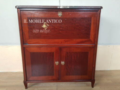 SECRETAIRE STILE LUIGI XV IN MOGANO INTEGRO ORIGINALE DI EPOCA 900'