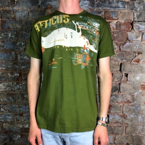 Atticus Leftover Casual Tee Short Sleeve T-Shirt Olive in size M