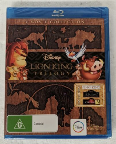 THE LION KING Trilogy Blu-ray 3 Movie Collection Region A,B,C oz seller Disney