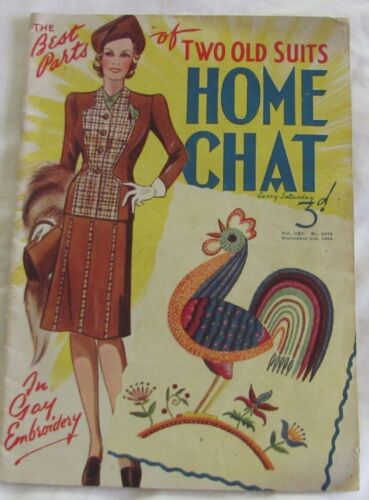 Vintage 1942 The Best Parts of Two Old Suits Home Chat Magazine 5th Sept 1942