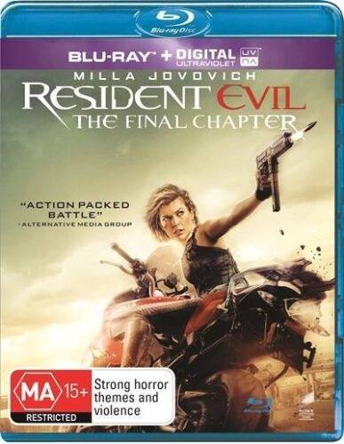 Resident Evil / The Final Chapter / Blu Ray DVD / Australian Release / Brand New