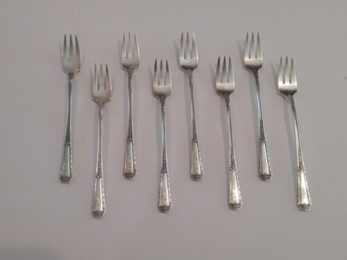 "Set/8 Towle LOUIS XIV Sterling Silver Cocktail Forks, Monog. ""B"""