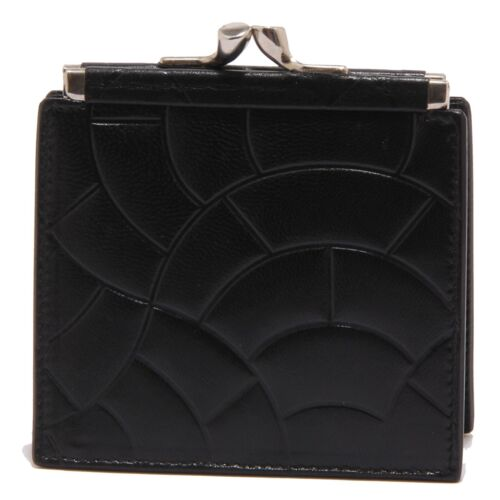 3106 portamonete CESARE PACIOTTI WITHOUT BOX-LABEL black leather coin purse