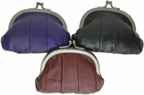 Genuine Leather Change Purse coin bag Ladies Wallet purse mini Framed coin cases