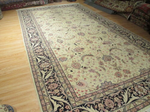 9x17 Allover-Pattern UNIQUE Amazing Vegetable Dye Handmade-knotted Wool Rug 18