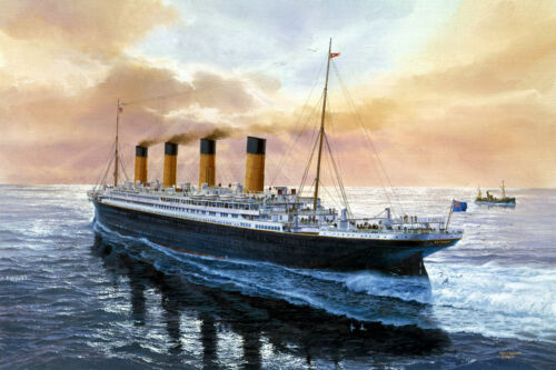 Gifts Art wall Home Decor Titanic on the berth Print Oil painting Picture canvas