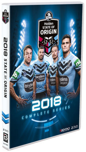 BRAND NEW State Of Origin 2018 (DVD, 2-Disc Set) New South Wales Blues NRL