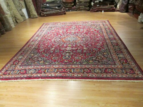 ESTATE 10x13 CA 1960 UNIQUE GORGEOUS MUSEUM HANDMADE-KNOTTED WOOL RUG 582641