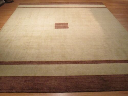 10x14 MUTED Contemporary Modern Natural Colors Handmade-knotted Wool Rug 580536