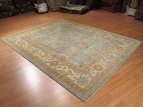 8x10 OUSHAK Allover-Pattern MUTED Vegetable Dye Handmade-knotted Wool Rug 580392