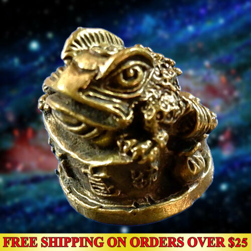 JIN CHAN Toad 3 legs Hunting Money Thai Amulet Holy Talisman Lucky Casino Gamble