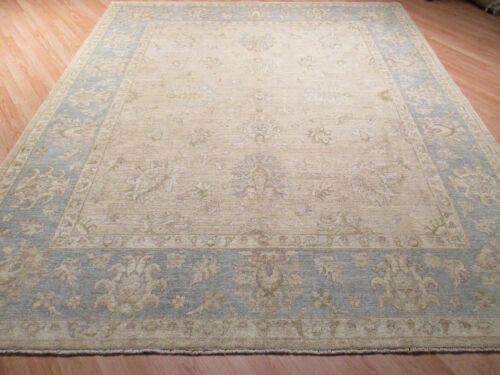 """8x10 """"LIGHT COLOR PALETTE"""" ALLOVER-PATTERN HANDMADE-KNOTTED WOOL RUG 580365"""