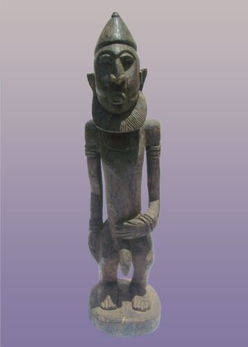 "African Dogon Male Figure From Mali 36"" Tall"