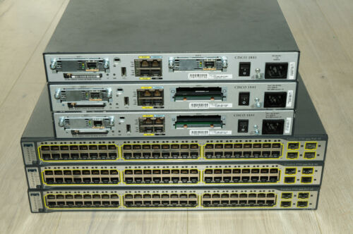 Most Recommended Cisco CCNA CCNP Lab 3xCISCO1841 WS-C3750-48PS-S L3 Guiding DVD