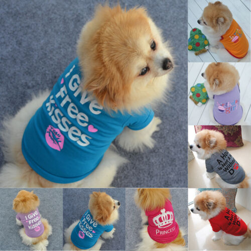 Small Dog Cat Pet Puppy Vest Clothes Spring Autumn T-shirt Apparel Clothing XS-L