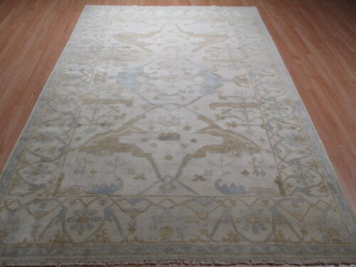 6x9 Oushak Allover-Pattern Vegetable Dye Hand-made-knotted Wool Rug 582474