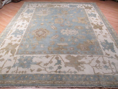 8x10 OUSHAK VERY UNQUE ALLOVER-PATTERN VEGETABLE DYE HANDMADE WOOL RUG 581380