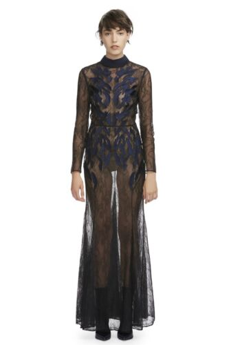 Camilla and Marc The Coco Gown in Black and Blue Size AU 8 US 4