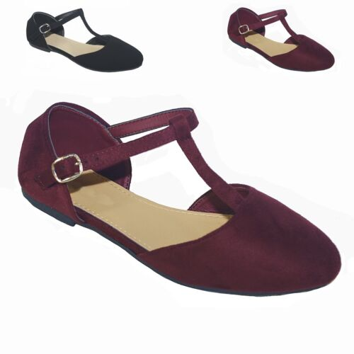 New Women  Mary Jane Ankle T- Strap Pointy Toe Ballet Flat Shoes