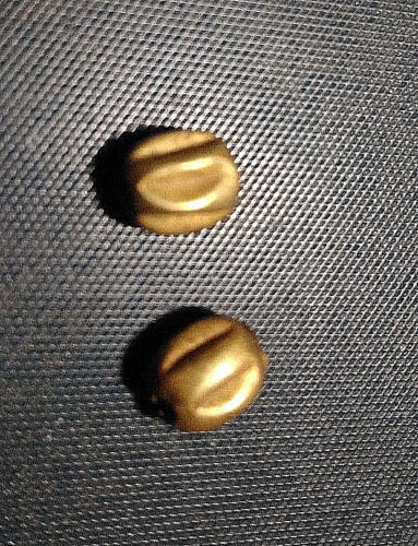 Collectible Pair Of Antique Roman Solid 22K Gold Bead Pumpkin Shape Spacer BEAD