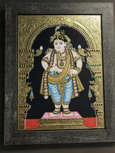 NEW Tanjore painting - Young Krishna