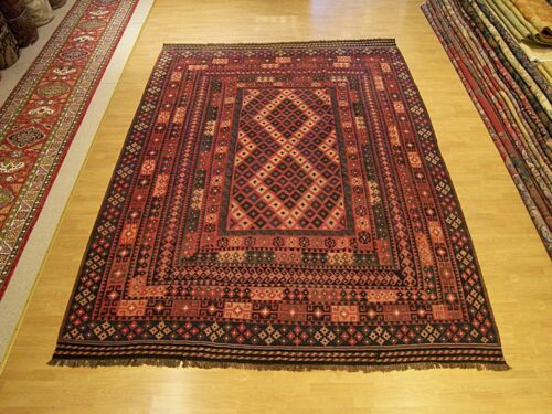9 x 12  High Quality Hand Woven Handmade  Afghan Vegetable Dye Fine Wool Kilim