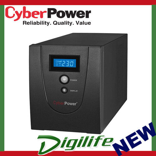 CyberPower VALUE1200ELCD Value SOHO LCD 1200VA / 720W Simulated Sine Wave UPS