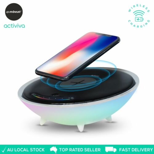 ActiVIVA Wireless Charger Stand Pad Smartphones Charging Adjustable Brightness