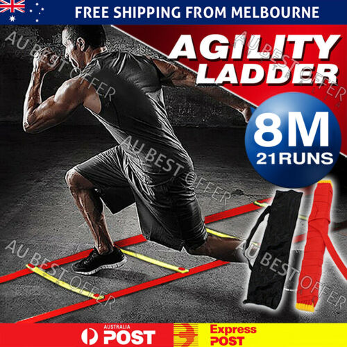 21 Rung 8M Fitness Equipment Soccer Football Speed Training Agility Ladder
