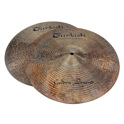 "TURKISH CYMBALS Becken 15"" HiHat Golden Legend bekken cymbale cymbal 1126/1300g"