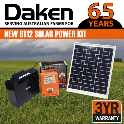 12km Solar Electric Fence Energiser Energizer with external battery! <br/> DAKEN -Trusted by Australian farmers for over 65 YEARS!