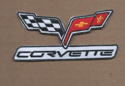2  CHEVROLET CORVETTE Embroidered Iron Or Sewn On VETTE LOGO Patches Free Ship