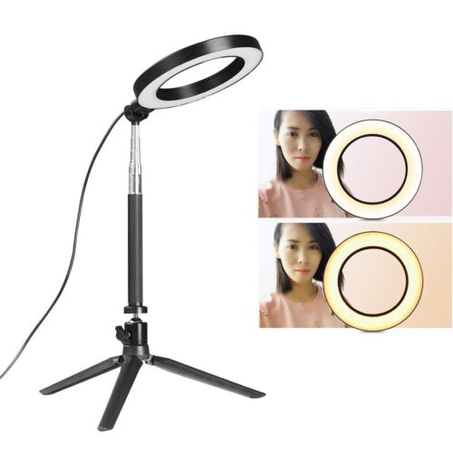 """6"""" LED Ring Light with Stand 5500K Dimmable Lighting Kit For Makeup Youtube Live"""