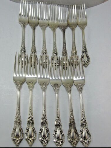 "1 ELOQUENCE BY LUNT STERLING SILVER DINNER FORK (7-1/4"") NO MONOGRAM"