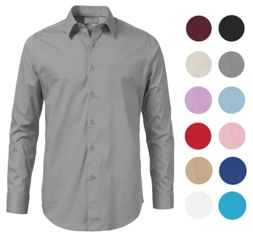Boltini Italy Men's Solid Long Sleeve French Convertible Cuff Dress Shirt