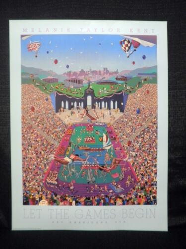 Melanie Taylor Kent Let The Games Begin 1984 Los Angeles Olympics Lithograph