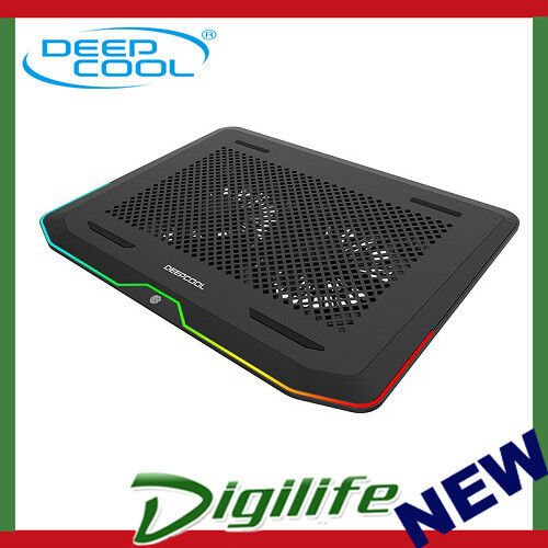 """Deepcool N80 RGB Gaming Notebook Cooler 16.7 Million Colours Up to 17.3"""" laptop"""