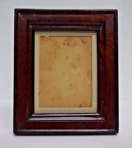 Antique Hand Carved Wood Miniature Portrait Picture Frame, 19th C Americana