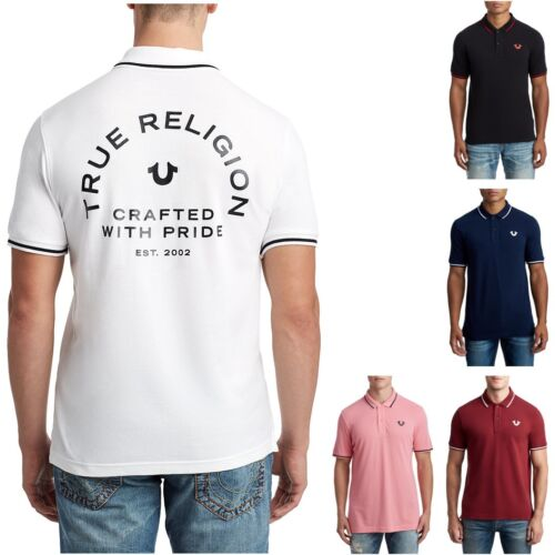 True Religion Men's Crafted With Pride Short Sleeve Polo Shirt