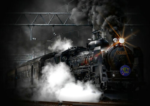 Art Wall Home Decor train Oil painting Picture HD Printed on canvas Best gift