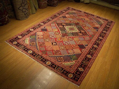 7 x 10 Hand Knotted Antique Persian Mahal Serapi Fine Vegetable Dye Wool Rug